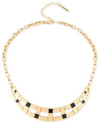 T Tahari | Metallic Gold-tone Jet Crystal Collar Necklace | Lyst