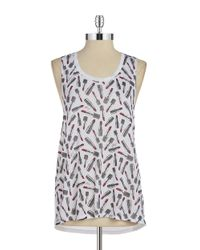 Betsey Johnson | White Hi-lo Performance Tank | Lyst
