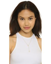Dogeared | Metallic Karma Double Circle Adjustable Lariat Necklace | Lyst