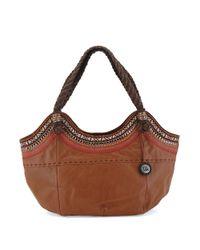 The Sak Brown Indio Leather Satchel