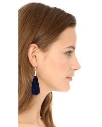 Eddie Borgo - Small Silk Tassel Earrings - Blue - Lyst