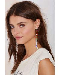 Nasty Gal Multicolor Lei It On Me Beaded Earring