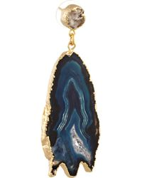 Dara Ettinger - Metallic Aubrey Goldplated Druzy and Geode Earrings - Lyst