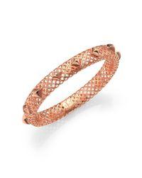 Gucci - Pink Diamantissima 18k Rose Gold Studded Bangle Bracelet - Lyst