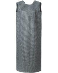 Rochas - Black Tweed Shift Dress - Lyst