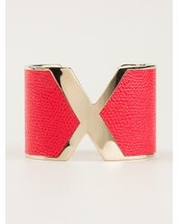 Valextra | Red X Cuff | Lyst