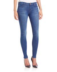J Brand - Blue 620 Mid-rise Super Skinny Jeans - Lyst