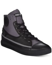 Kenneth Cole Reaction - Black Done-zo Hi-tops for Men - Lyst