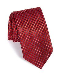 Ermenegildo Zegna - Red Floral Silk Tie for Men - Lyst