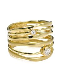 Ippolita | Metallic 18k Gold Movie Star Diamond Stacked Ring | Lyst
