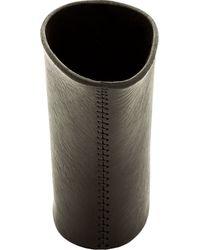Julius - Black Leather Oversize Cuff for Men - Lyst