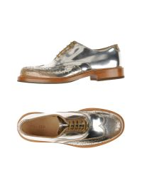 Alexander McQueen - Metallic Lace-up Shoes for Men - Lyst