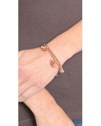 Shashi - Pink Laila Wrap Bracelet Rose Gold - Lyst