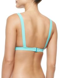 Marc By Marc Jacobs - Blue Vic Colorblock Swim Top - Lyst