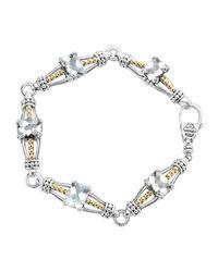 Lagos | White Topaz Prism Caviar Bracelet | Lyst