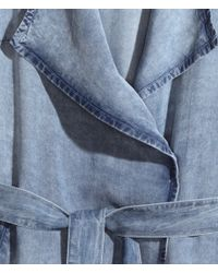 H&M Blue Trenchcoat