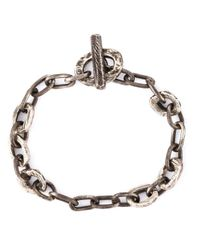 Henson | Metallic Distressed Chain Bracelet for Men | Lyst