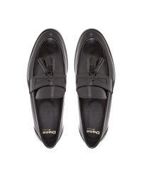 Dune Black Black Raegan Patent Tassel Loafer for men
