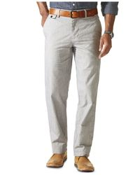 Dockers | Gray D2 Straight Fit Field Khaki Striped Flat Front Pants for Men | Lyst