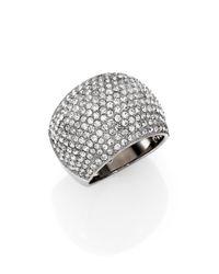 Michael Kors Metallic Brilliance Statement Pave Dome Ring/Silvertone