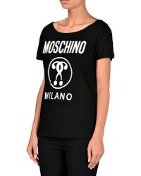 Moschino - Black Short Sleeve T-shirts - Lyst