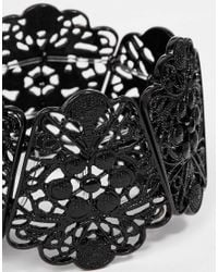 Oasis - Black Lace Stretch Bracelet - Lyst