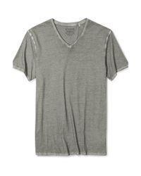Guess Gray Shirt Gunnar Vneck Tshirt for men