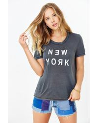 Truly Madly Deeply Gray New York Tee