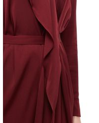 Jaeger Purple Waterfall Dress