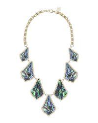 Kendra Scott | Blue Kensey Abalone Bib Necklace | Lyst