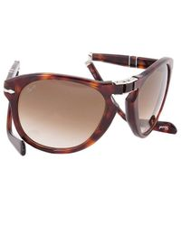 """Persol - Gray \""""Steve Mcqueen\"""" Edition: Havana Tortoise Frame With Brown Faded Lens - Lyst"""