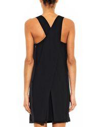 Rebecca Taylor Black Embellished Cross-Back Dress