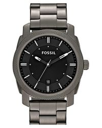 Fossil | Gray 'machine' Bracelet Watch for Men | Lyst