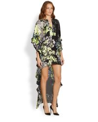 BCBGMAXAZRIA   Black Dameka Floral Print Hilo Dress   Lyst