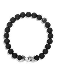 David Yurman - Spiritual Beads Bracelet With Black Onyx & Black Diamonds for Men - Lyst