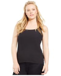 INC International Concepts | Black Plus Size Tank Top | Lyst