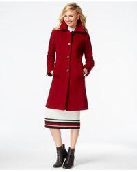 Anne Klein | Red Wool-cashmere Walker Coat | Lyst