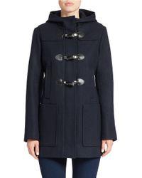 MICHAEL Michael Kors | Blue Hooded Toggle Coat | Lyst