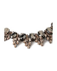 Forever 21 - Metallic Ornate Faux Gemstone Necklace - Lyst