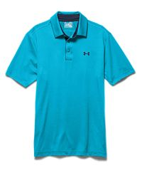 Under Armour Blue Playoff Polo Shirt for men
