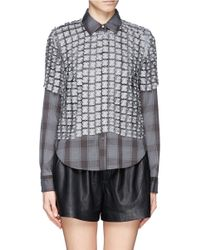 Elizabeth and James Gray 'carnie' Lace Overlay Check Shirt