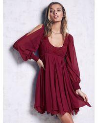 Free People | Purple Tatiana Swing Dress | Lyst