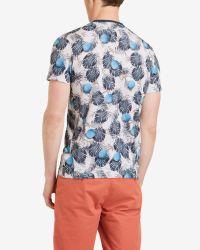 Ted Baker | Blue Printed T-shirt for Men | Lyst