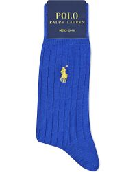 Ralph Lauren | Blue Cotton-blend Ribbed Socks for Men | Lyst