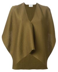 Maison Rabih Kayrouz - Green Draped Sleeveless Top - Lyst
