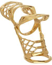 Dominic Jones | Metallic Gold Leviathan Ring | Lyst