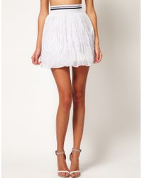ASOS - White Revive Skirt in Puffball Shape - Lyst
