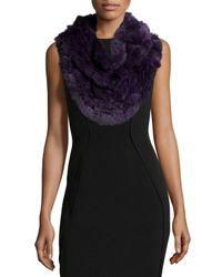 Gorski - Gray Chinchilla Knit Fur Ruffle Shawl - Lyst