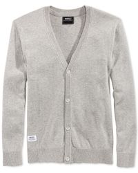 Wesc | Gray Borik Solid Cardigan for Men | Lyst