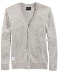 Wesc - Gray Borik Solid Cardigan for Men - Lyst